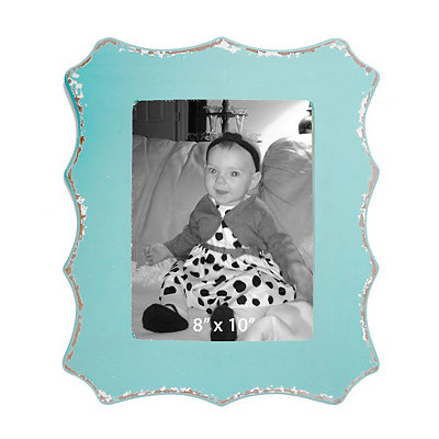 Blue Scalloped Edge Picture Frame, 8x10