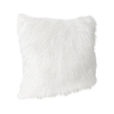 Antique White Keller Faux Fur Pillow, 20 in.
