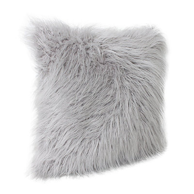 Gray Keller Faux Fur Pillow, 20 in.