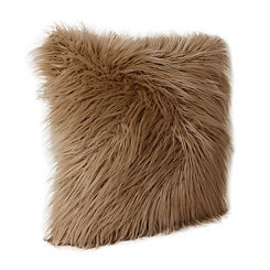 Brown Keller Faux Fur Pillow, 20 in.