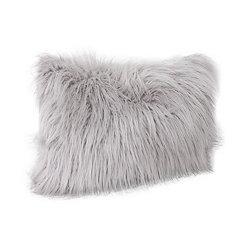 Gray Keller Faux Fur Accent Pillow
