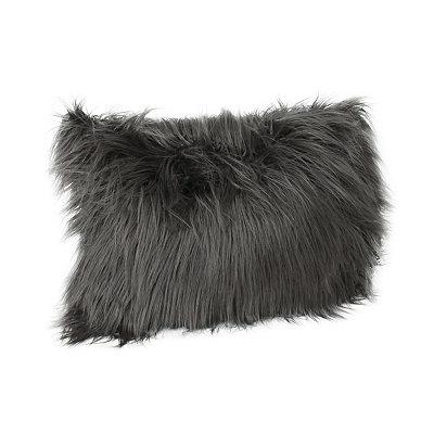 Charcoal Keller Faux Fur Accent Pillow