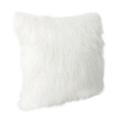 Antique White Keller Faux Fur Pillow, 26 in.