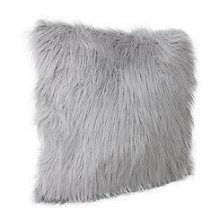 Gray Keller Faux Fur Pillow, 26 in.