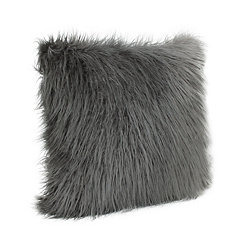 Charcoal Keller Faux Fur Pillow, 26 in.