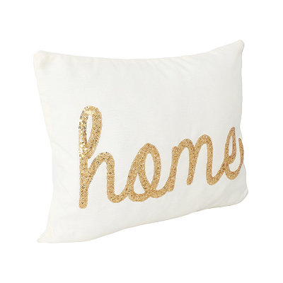 Egret Sequined Home Accent Pillow
