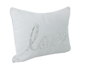 Vapor Sequined Love Accent Pillow