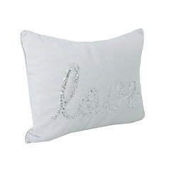 Vapor Sequined Love Accent Pillow