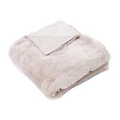 Oatmeal Savannah Faux Fur Throw Blanket