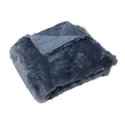 Bering Sea Savannah Faux Fur Throw Blanket