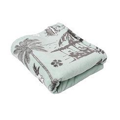 Harbor Hula Velvet Plush Throw Blanket