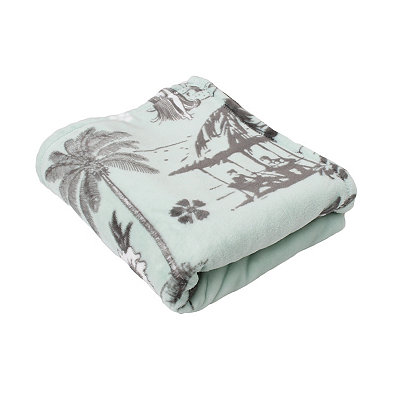Harbor Hula Velvet Plush Throw Blanket