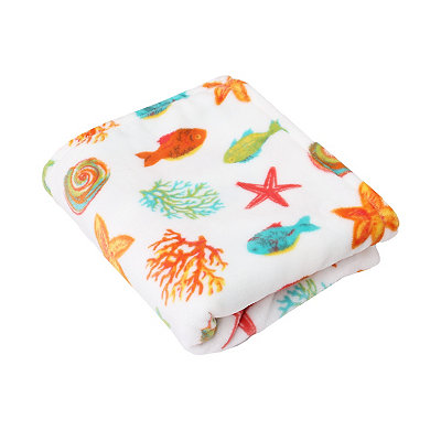 Colorful Fish Velvet Plush Throw Blanket