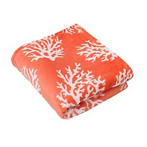Kalvin Coral Velvet Plush Throw Blanket
