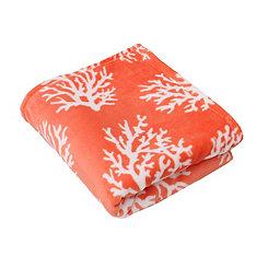Kalvin Coral Velvet Plush Throw Blanket
