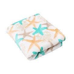 Bay Starfish Velvet Plush Throw Blanket