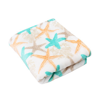 Bay Starfish Velvet Plush Throw Blanket