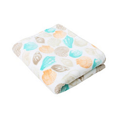 Bay Seashell Velvet Plush Throw Blanket
