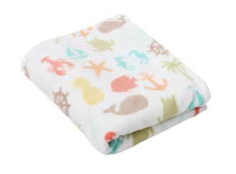Sea Breeze Velvet Plush Throw Blanket