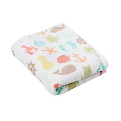 Sea Breeze Velvet Plush Throw Blanket
