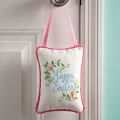 Happy Easter Buttons Door Hanger