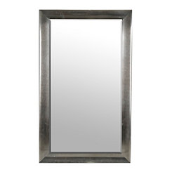 Galvanized Chrome Faux Metal Framed Mirror