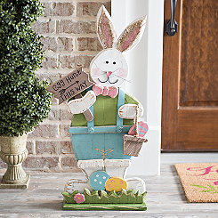 Egg Hunt This Way Boy Bunny Sign