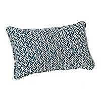 Blue Herringbone Outdoor Accent Pillow