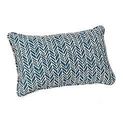Blue Herringbone Outdoor Accent Pillow