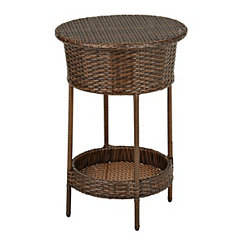 Brown Wicker Beverage Tub
