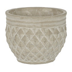 White Diamond Cement Planter