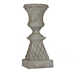 Diamond Pedestal Urn Planter