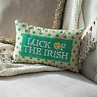 Luck Of The Irish Polka Dot Pillow