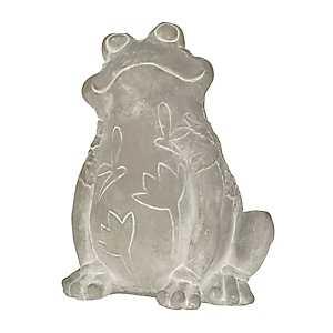 Smiling Frog Cement Garden Statue