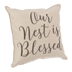 Our Nest Is Blessed Pillow