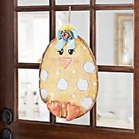 Happy Chick Burlap Wall Hanger