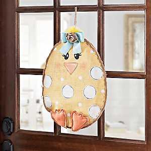 Happy Chick Burlap Wall Hanger