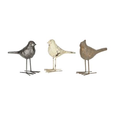 Iron Song Bird Statues