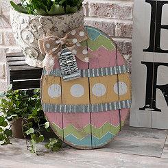 Pastel Chevron Easter Egg Easel