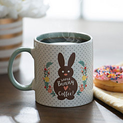 Bunny Hearts Coffee Easter Mug