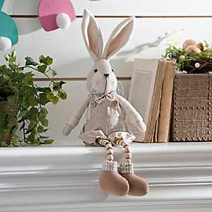 Boy Bunny Plush Shelf Sitter