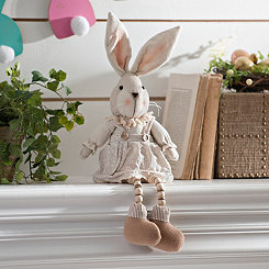 Girl Bunny Plush Shelf Sitter