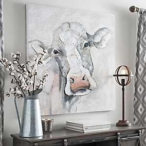 Mischievous Cow Canvas Art Print