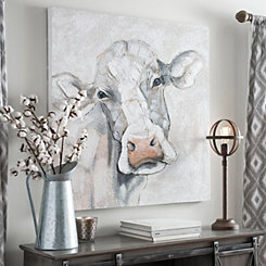 Mischievous Cow Canvas Art Print