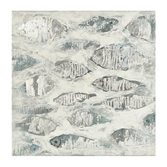 Silver School of Fish Canvas Art Print