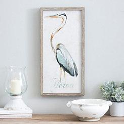 Standing Heron Framed Art Print