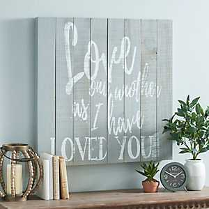 Love One Another Wooden Wall Plaque