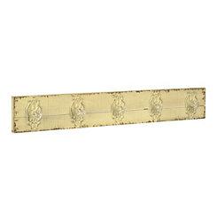 Distressed Ivory Doorknob Hook Plaque