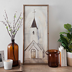 Ivory Church Framed Canvas Art Print