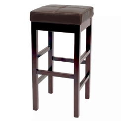 Brown Valencia Backless Leather Counter Stool